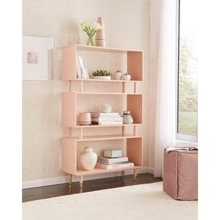 home office shelf. Simple Living Margo Mid-Century 3-Shelf Bookshelf Home Office Shelf