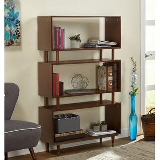 Simple Living Margo Mid-Century 3-Shelf Bookshelf (Option: Walnut Brown)