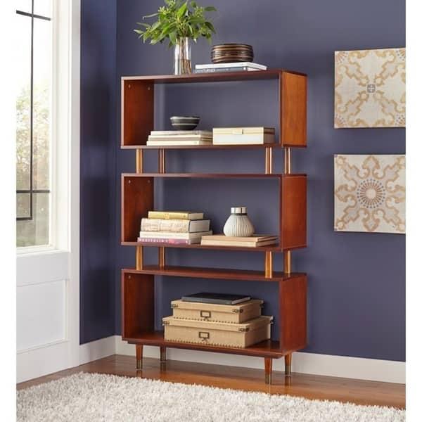 Pleasing Shop Simple Living Margo Mid Century 3 Shelf Bookshelf On Lamtechconsult Wood Chair Design Ideas Lamtechconsultcom