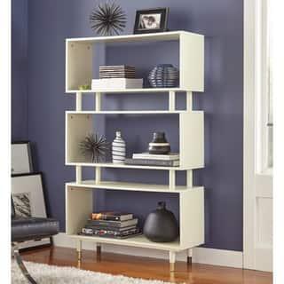 Simple Living Margo Mid Century 3 Shelf Bookshelf 59 5 H X 36