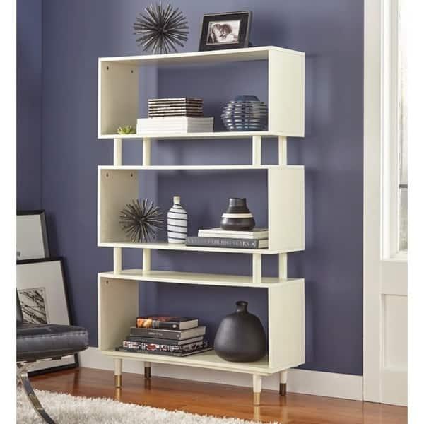 Cool Shop Simple Living Margo Mid Century 3 Shelf Bookshelf On Lamtechconsult Wood Chair Design Ideas Lamtechconsultcom