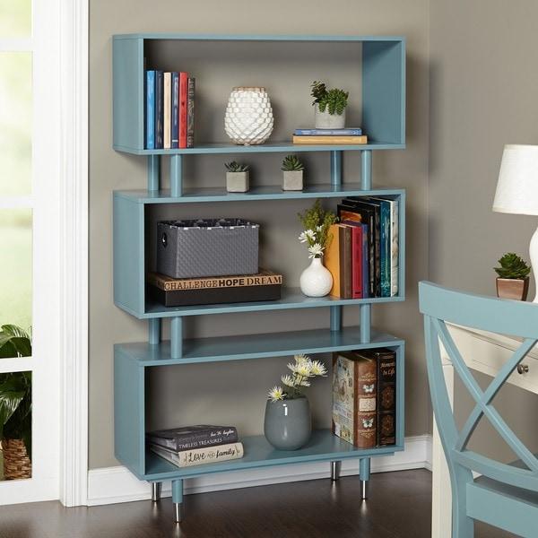 Simple Living Margo Mid Century 3 Shelf Bookshelf   59.