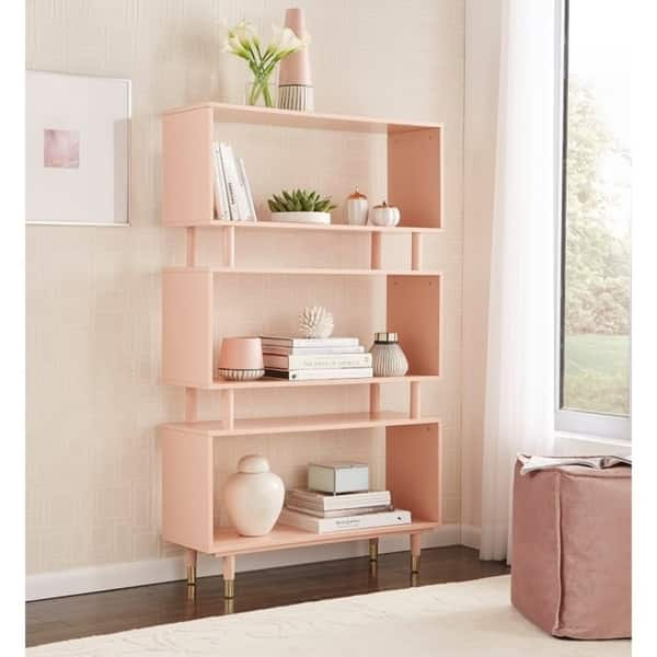 Magnificent Shop Simple Living Margo Mid Century 3 Shelf Bookshelf On Lamtechconsult Wood Chair Design Ideas Lamtechconsultcom