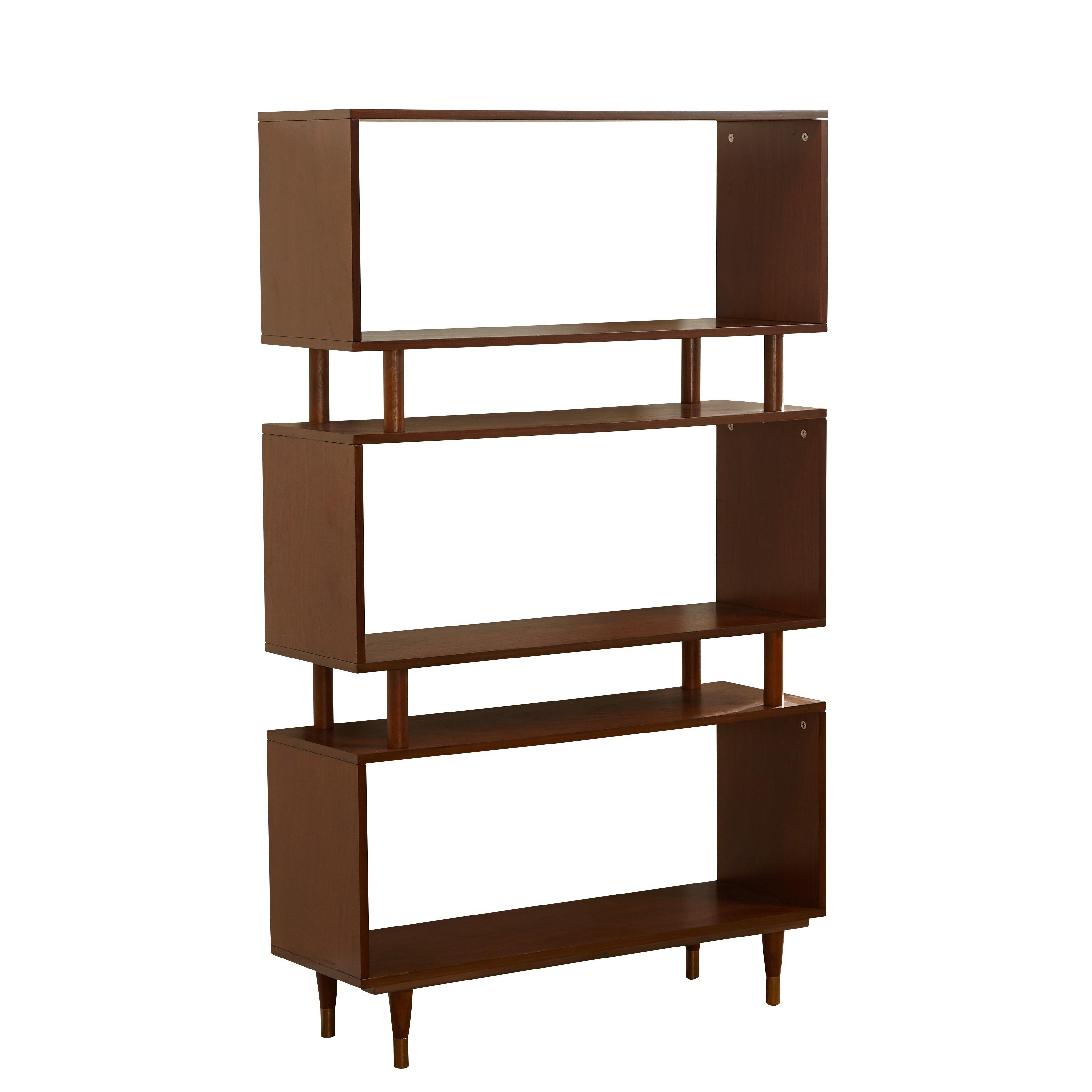 Simple Living Margo Mid Century 3 Shelf Bookshelf