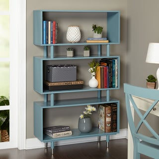 Simple Living Margo Mid-Century 3-Shelf Bookshelf (Option: Antique Blue)