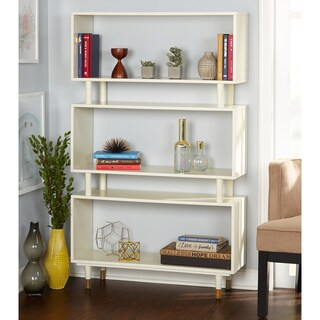 Simple Living Margo Mid-Century 3-Shelf Bookshelf (3 options available)