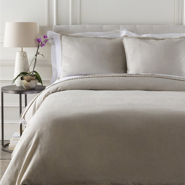 Marley Solid Cotton/Linen Duvet Cover. Opens flyout.