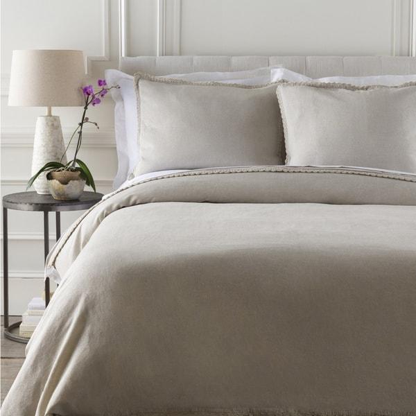 Marley Solid Cotton/Linen Duvet Cover
