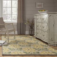 Momeni Newport Yellow Hand-Tufted Wool Rug - 5' x 8'