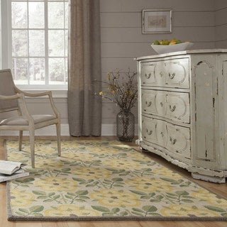 Momeni Newport Yellow Hand-Tufted Wool Rug (2' X 3')