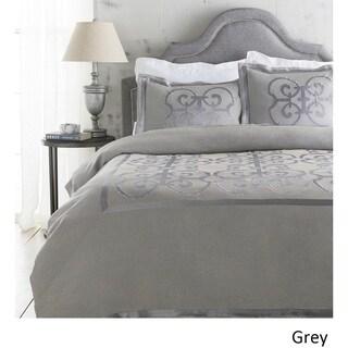 Abdiel Geometric Linen/Polyester Duvet Set