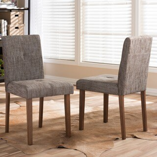 Baxton Studio Elsa Mid-century Scandinavian Style Dark Walnut Bent Wood Dining Chair Set (Set o