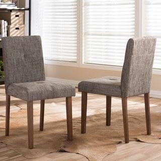 Baxton Studio Elsa Mid-century Scandinavian Style Dark Walnut Bent Wood Dining Chair Set (Set o