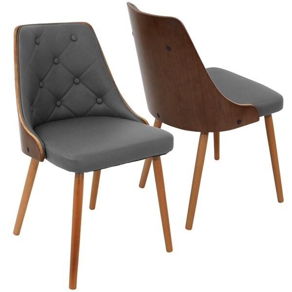 Gianna Mid Century Modern Walnut Wood Dining ChairGianna Mid Century Modern Walnut Wood Dining Chair   Free Shipping  . Mid Century Modern Chairs Overstock. Home Design Ideas