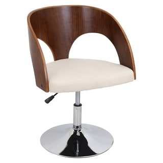 LumiSource Ava Accent Wood Chair with Swivel