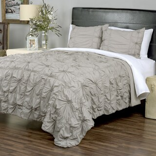Sweet Dreams Grey Hand-Knotted Twist 3-piece Quilt Set by Arden Loft