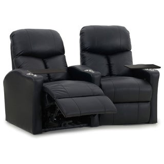 Octane Bolt XS400 Curved/ Power Recline/ Black Premium Leather Home Theater Seating (Row of 2)