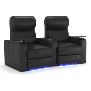 Octane Turbo XL700 Black Bonded Leather Home Theater Seating (2-piece Set)