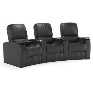 Octane Blaze XL900 Seats Curved/ Manual Recline/ Black Premium Leather Home Theater Seating (Row of 3)