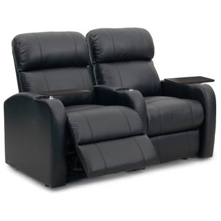 Octane Diesel XS950 Seats Straight/ Manual Recline/ Black Premium Leather Home Theater Seating (Row of 2)
