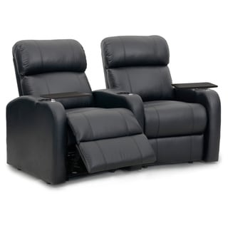 Octane Diesel XS950 Seats Curved/ Manual Recline/ Black Premium Leather Home Theater Seating (Row of 2)