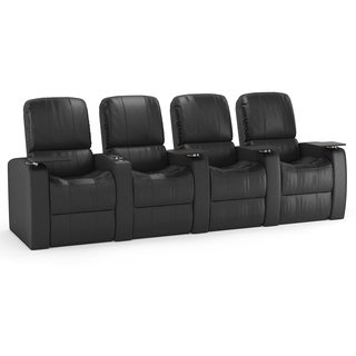Octane Blaze XL900 Seats Straight/ Manual Recline/ Black Premium Leather Home Theater Seating (Row of 4)