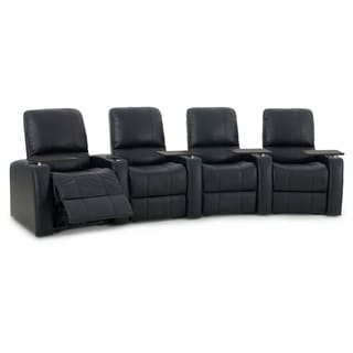 Octane Blaze XL900 Seats Curved/ Power Recline/ Black Premium Leather Home Theater Seating (Row of 4)