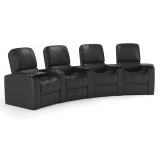 Octane Blaze XL900 Seats Curved/ Manual Recline/ Black Premium Leather Home Theater Seating (Row of 4)