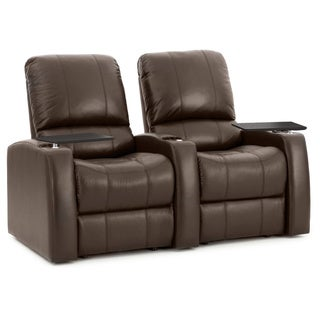 Octane Blaze XL900 Seats Straight/ Power Recline/ Brown Premium Leather Home Theater Seating (Row of 2)