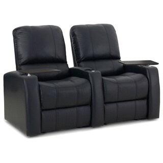 Octane Blaze XL900 Seats Straight/ Manual Recline/ Black Premium Leather Home Theater Seating (Row of 2)