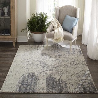 "Momeni Loft Machine Made Polypropylene Ivory Area Rug - 5'3"" x 7'6"""