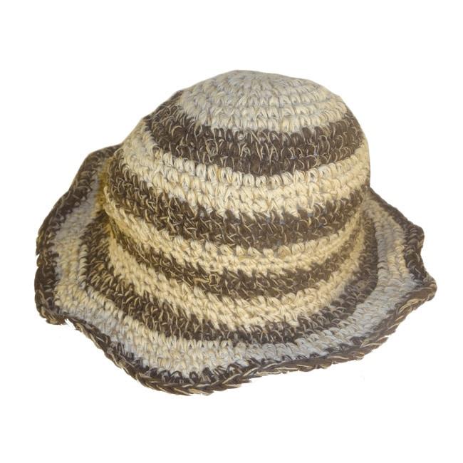 Visucraft Handmade Natural Color Hemp Cotton Summer Hat (...