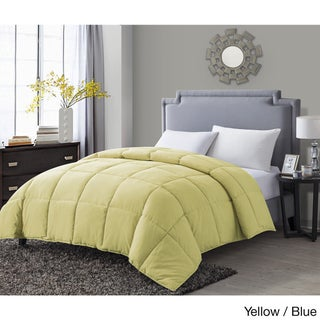 VCNY Paradise Reversible Down Alternative Comforter (Option: Full/Queen - Yellow/Blue)