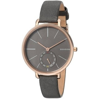 Skagen Women's SKW2396 'Hagen' Multi-Function Black Leather Watch