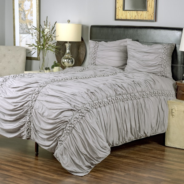 Iraja Grey Collection 3-piece Quilt Set by Arden Loft