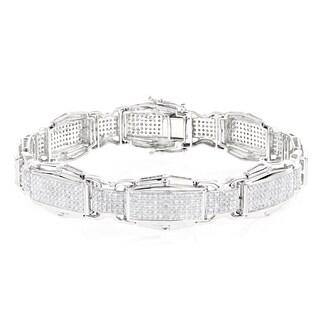 Luxurman 10k Gold 3 1/2ct TDW Diamond Bracelet (H-I, SI1-SI2)