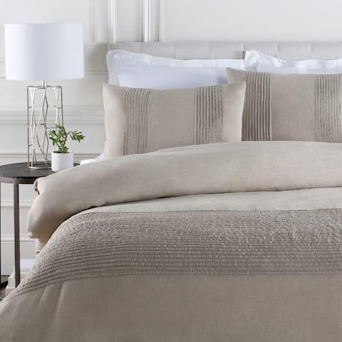 Coburn Warm Grey Linen Duvet Cover Set
