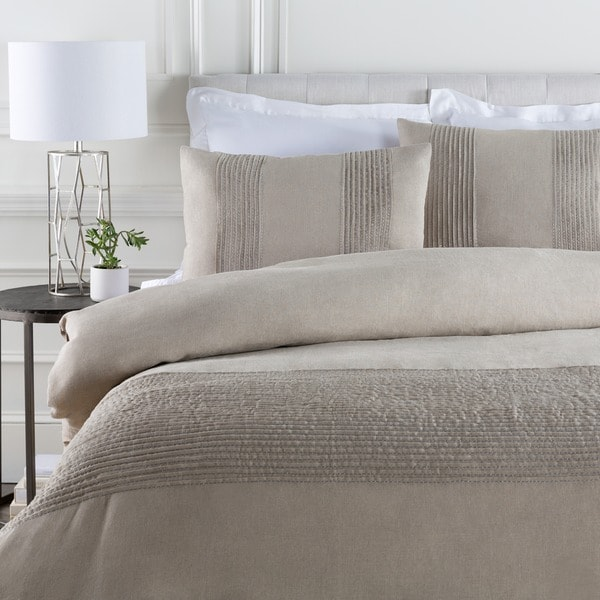 Coburn Grey Linen Duvet Cover Set