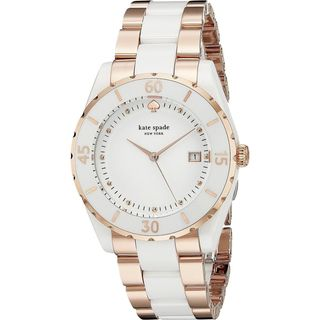 Kate Spade Women's 1YRU0757 'Seaport Grand' Two-Tone Ceramic Watch