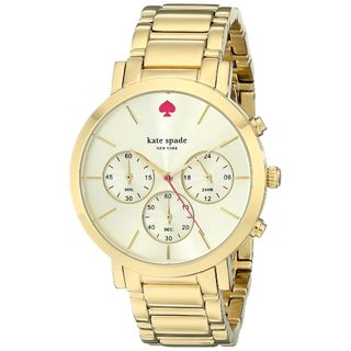 Kate Spade Women's 1YRU0715 'Gramercy' Chronograph Gold-Tone Stainless Steel Watch