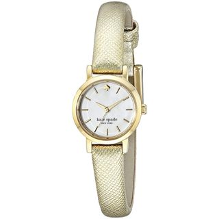 Kate Spade Women's 1YRU0455 'Tiny Metro' Gold-Tone Leather Watch