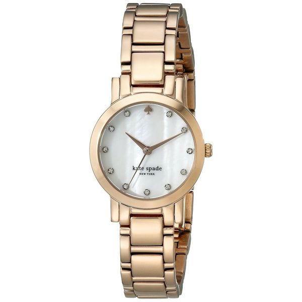 Kate Spade Women's 1YRU0191 'Gramercy Mini' Crystal Rose-Tone Stainless Steel Watch