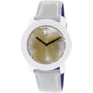 Movado Women's Bold 3600266 Silver Leather Swiss Quartz Watch