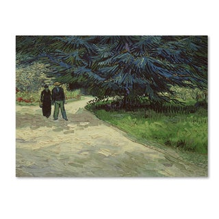 Vincent van Gogh 'Couple in the Park Arles, 1888' 35x47 Canvas Wall Art