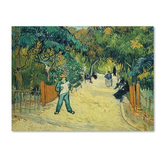 Vincent van Gogh 'Public Gardens in Arles, 1888' 35x47 Canvas Wall Art