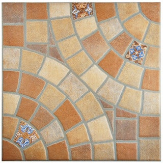 SomerTile 13.125x13.125-inch Angora Jet Teja Ceramic Floor and Wall Tile (Case of 6)