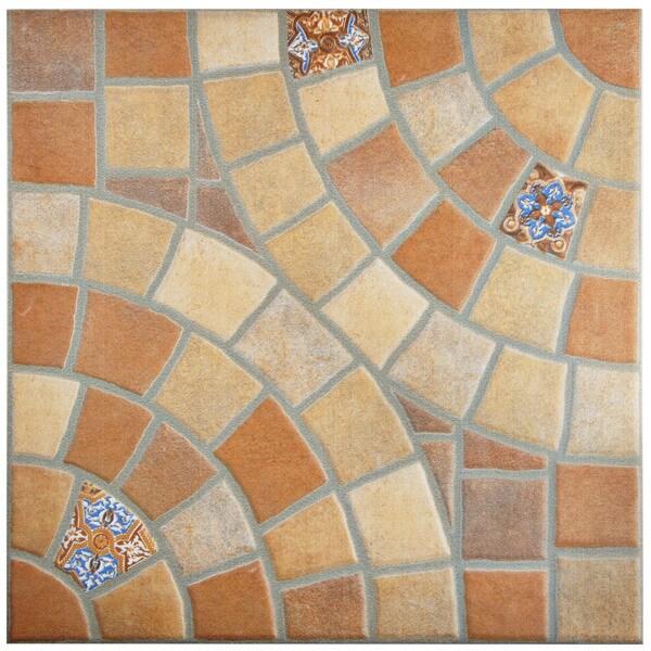 Somertile angora jet teja ceramic floor for 13 inch ceramic floor tile