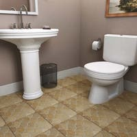 SomerTile 13.125x13.125-inch Escamo Beige Ceramic Floor and Wall Tile (6 tiles/7.22 sqft.)