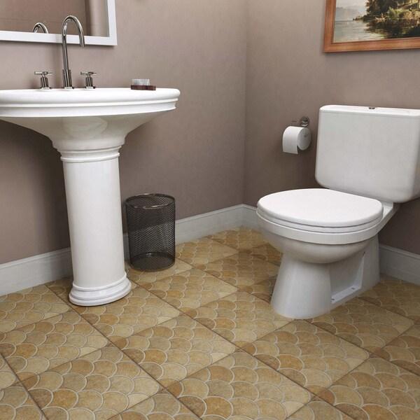 Somertile escamo beige ceramic floor for 13 inch ceramic floor tile