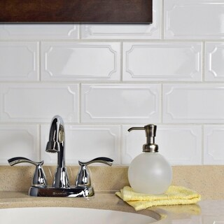 SomerTile 4x7.88-inch Thera Blanco Ceramic Wall Tile (50 tiles/10.76 sqft.)